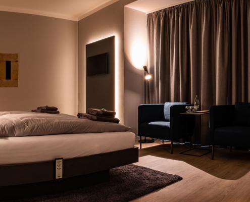 Doppelzimmer im Obergeschoß - Pulverhütte - Gästehaus im egapark Erfurt