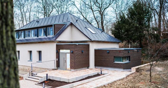 Außenansicht - Pulverhütte - Gästehaus im egapark Erfurt